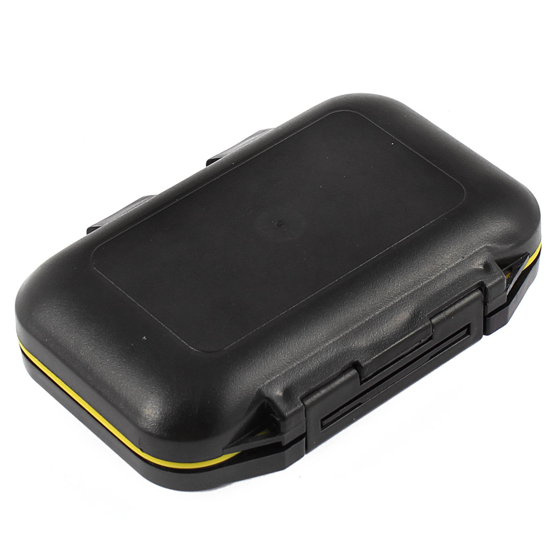 Black Plastic 12 Slots Fishing Lure Fish Hook Storage Case Box