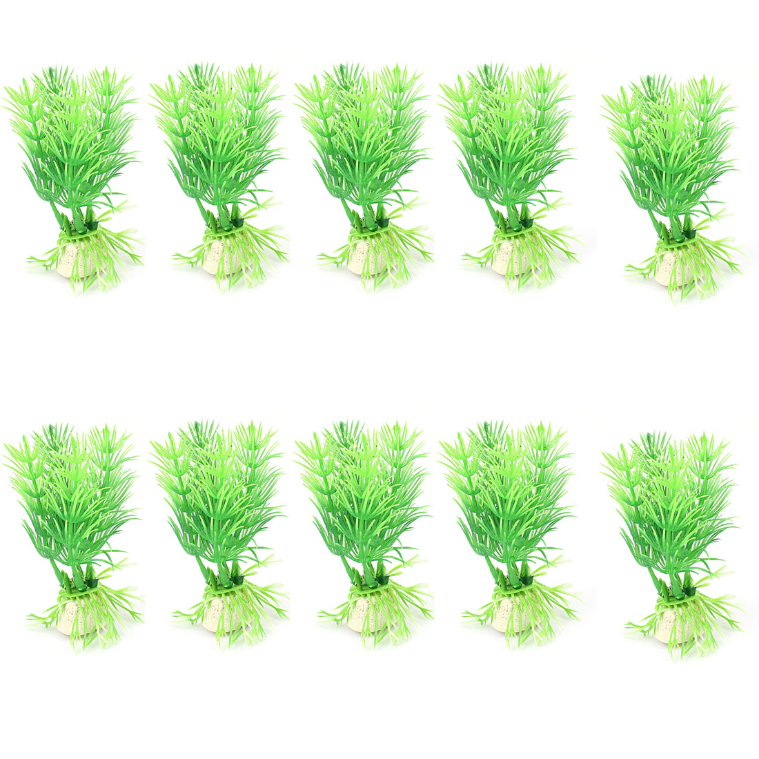 10pcs Aquarium Tank Emulational Aquascaping Green Plastic Decorative Underwater Plant