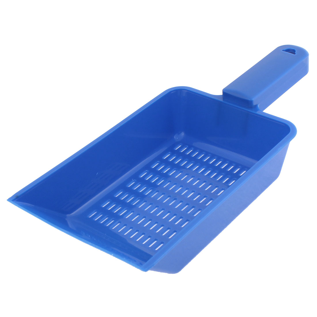 Aquarium Fish Tank Pool Blue Plastic Handle Sand Scraper Scoop Pan Shovel