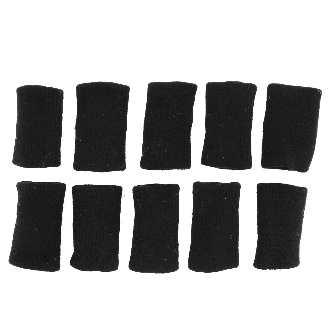 10 Pcs Black Stretchy Finger Protector Sleeve Support Arthritis Sports Aid