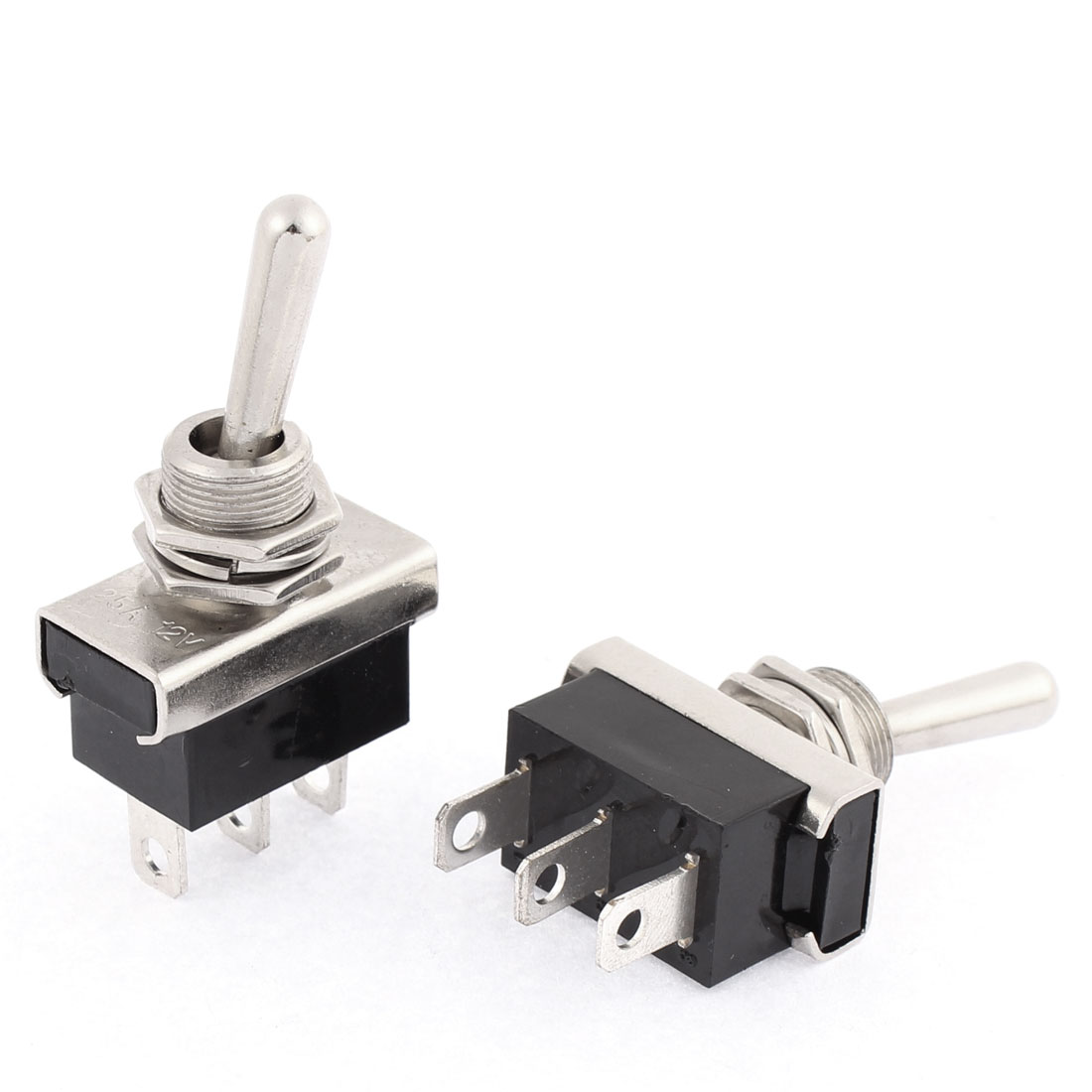 DC 12V 25A Car Automobile On/Off 2 Position 3 Pin Toggle Switch 2 Pcs