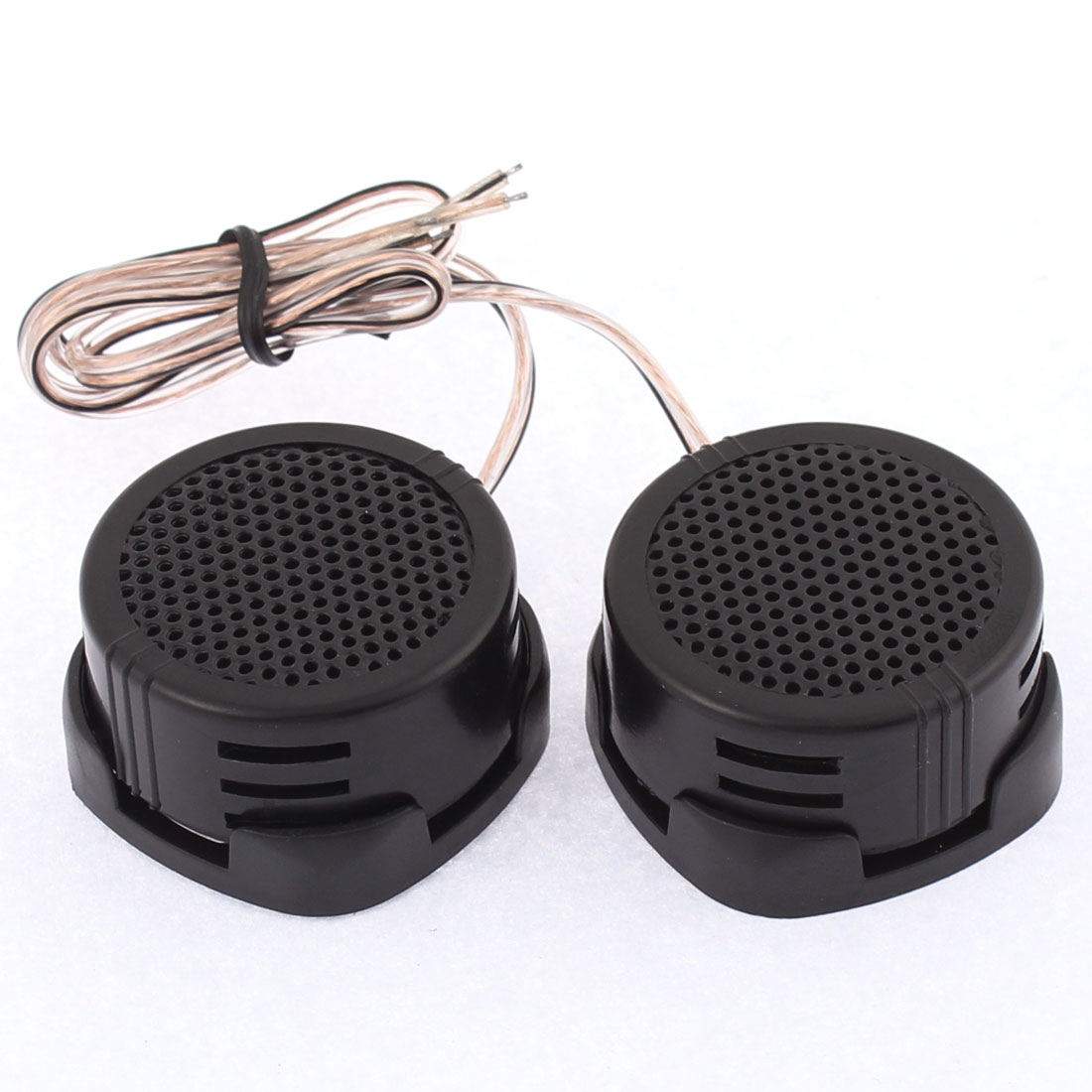 Car Audio Speaker System High Efficiency 500W Dome Tweeter Black 2 Pcs