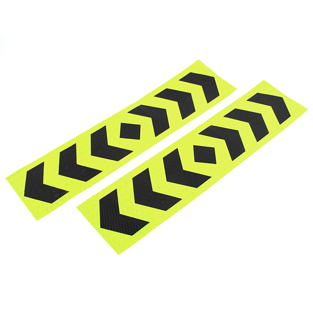2 Pcs Plastic Arrows Printed Self Adhesive Type Car SUV Reflective Warning Sign Sticker Tape