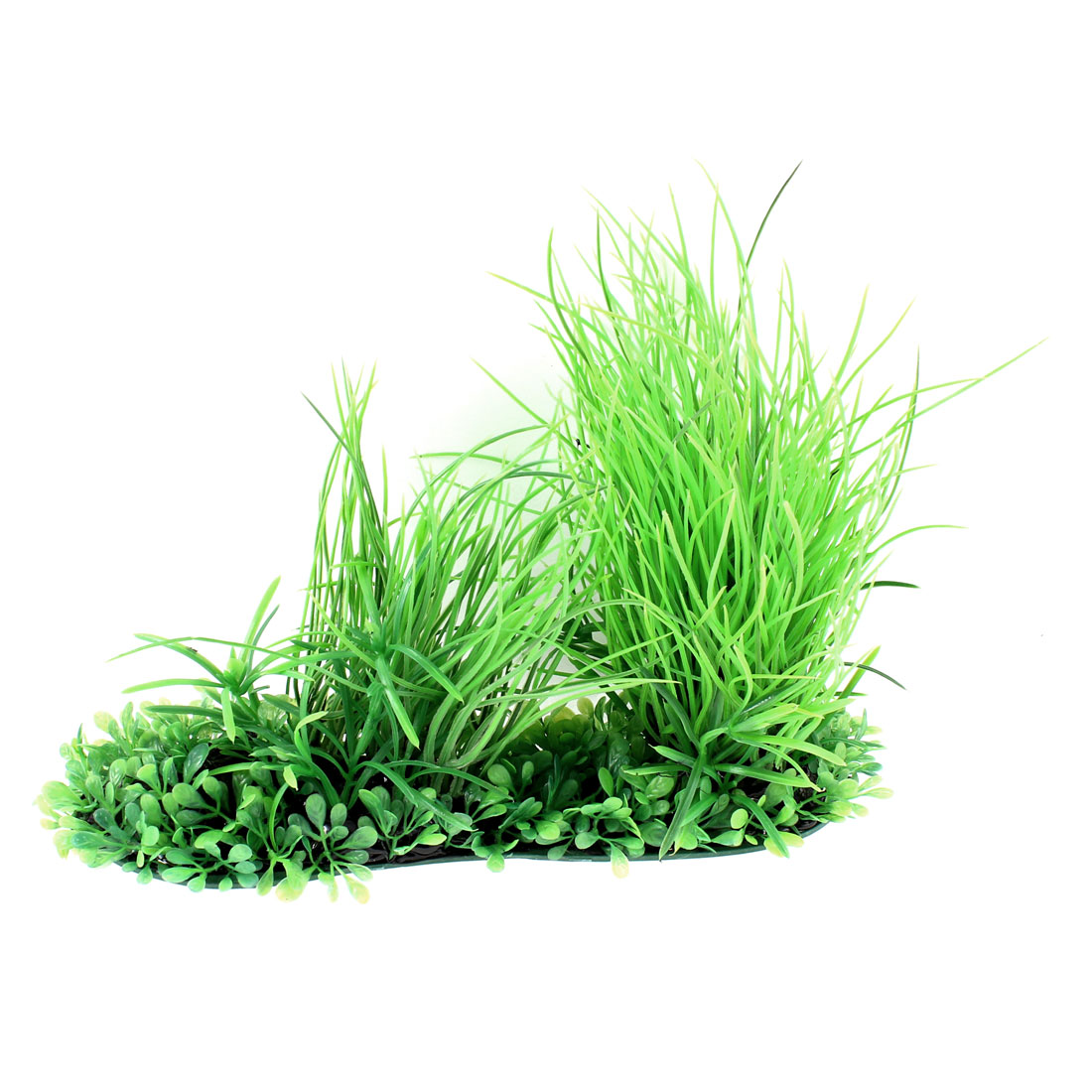 20cm Height Green Plastic Artificial Aquarium Plant Underwater Grass Ornament
