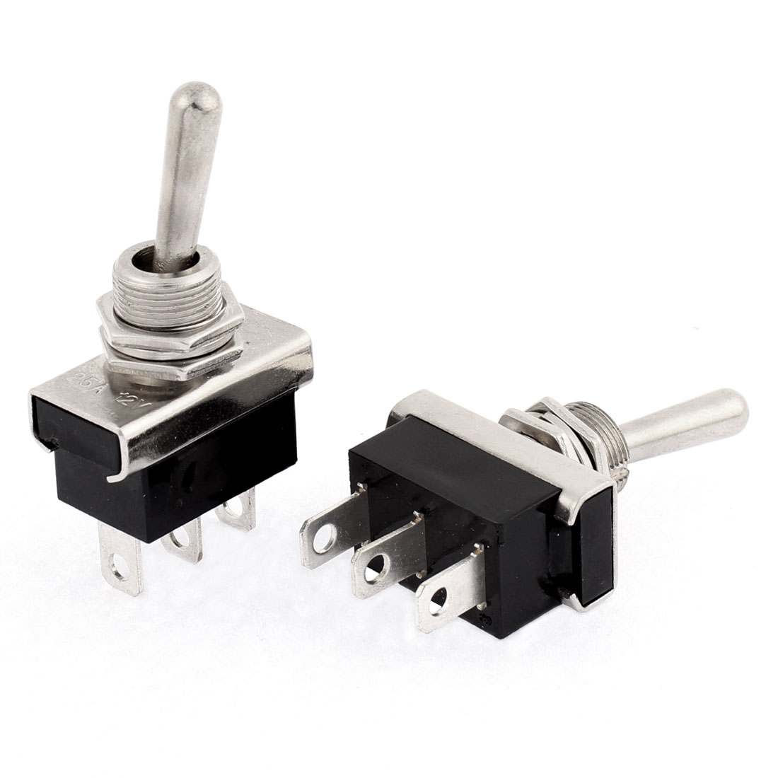 DC 12V 25A Car SUV On/Off/On 3 Position 3 Pin Toggle Switch 2 Pcs