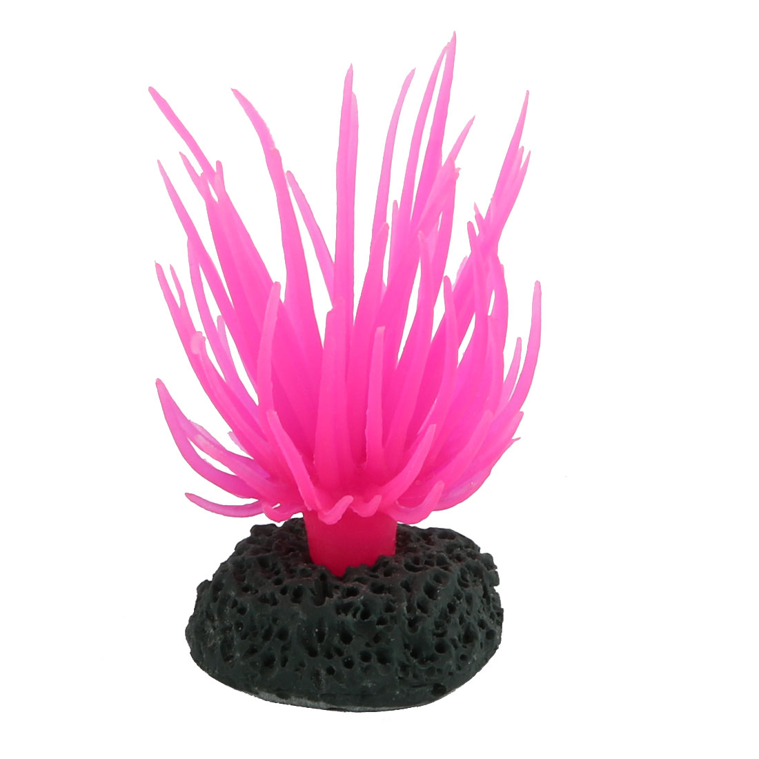 Aquarium Silicone Simulation Water Plant Landscape Coral Ornament Pink