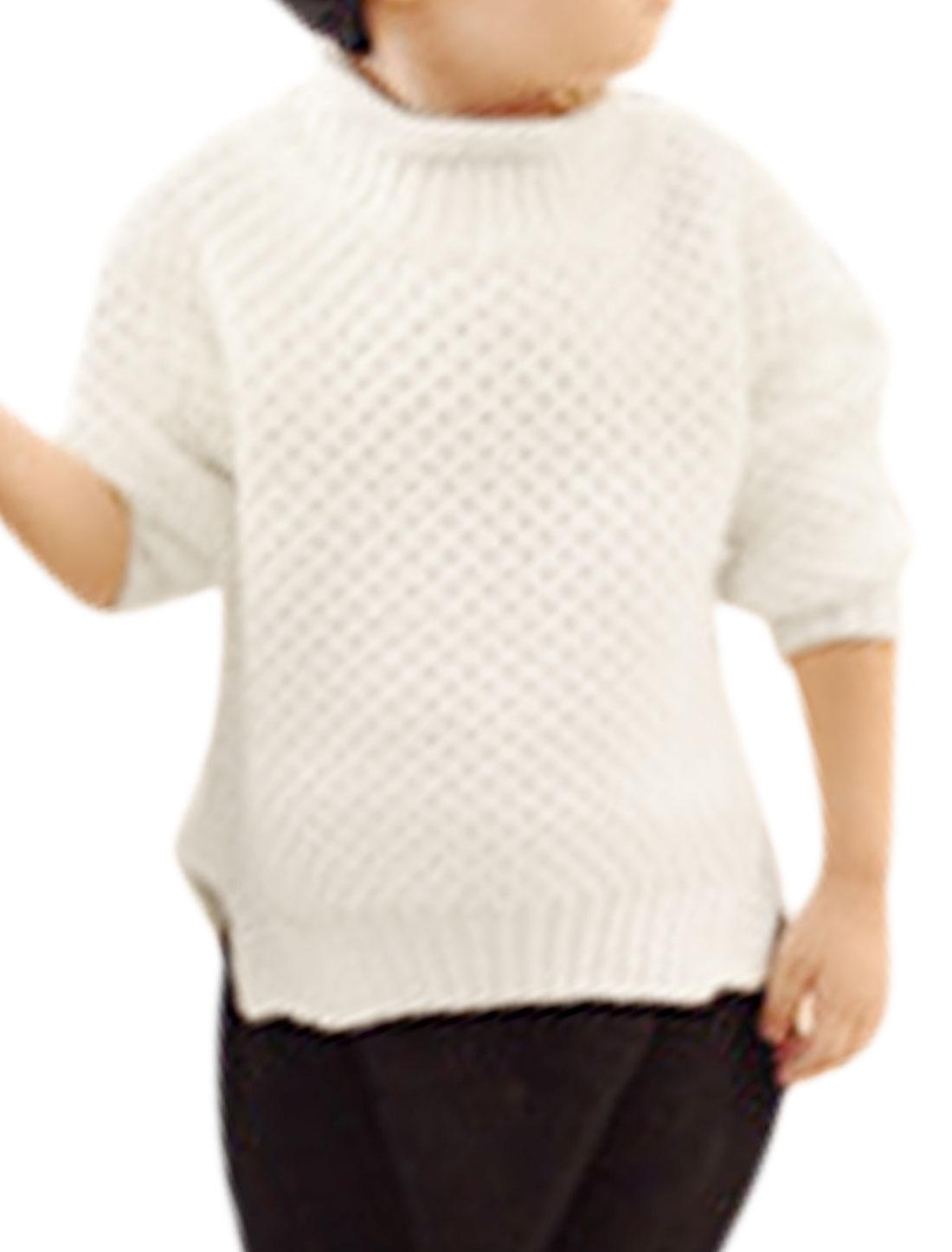 Unisex Long Sleeves Mock Neck Jumper White Girls 14 Boys 16