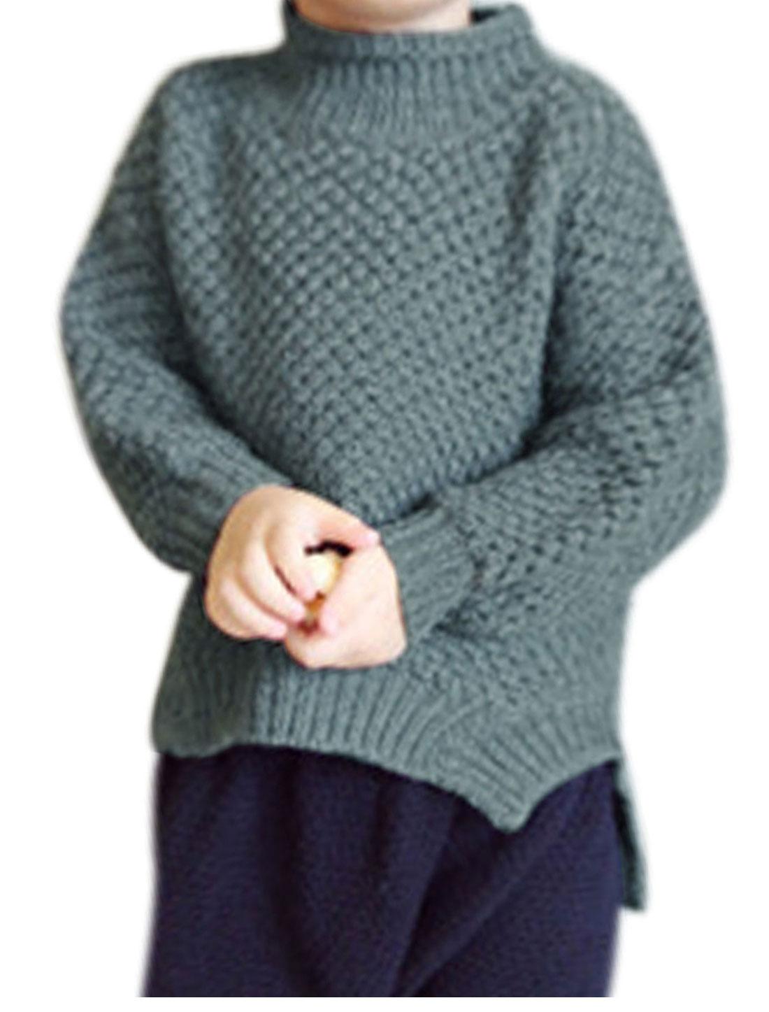 Unisex Dolman Sleeves Casual Sweater Gray Girls 12 Boys 12