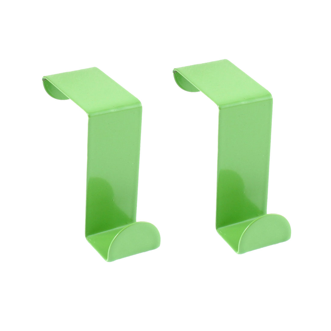 Bathroom Bedroom Stainless Steel S Shaped Door Hook Hanger Holder Green 2 Pcs