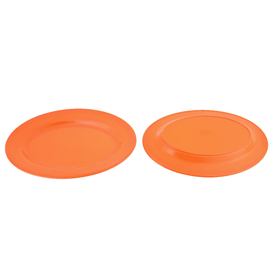 Kitchenware Plastic Oval Design Food Dessert Serving Plate Dish Orange 2pcs