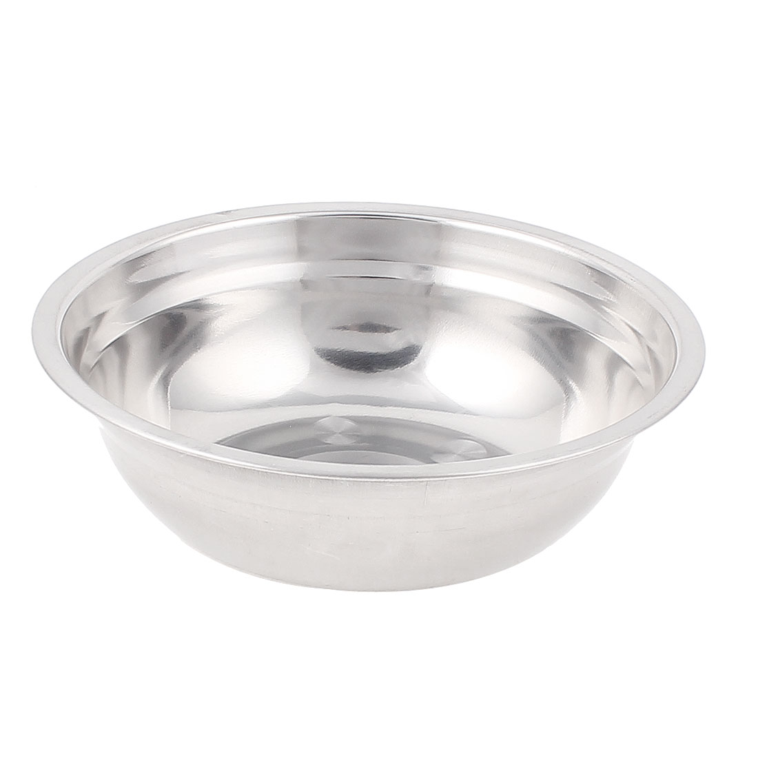 16 x 4.5cm(D x H) Stainless Steel Dish Bowl Tray Round Food Soup Serving Kitchen