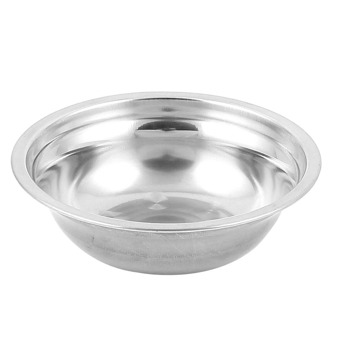 Home Kitchen Metal Round Dinnner Plate 4.7 Inch Diameter Silver Tone