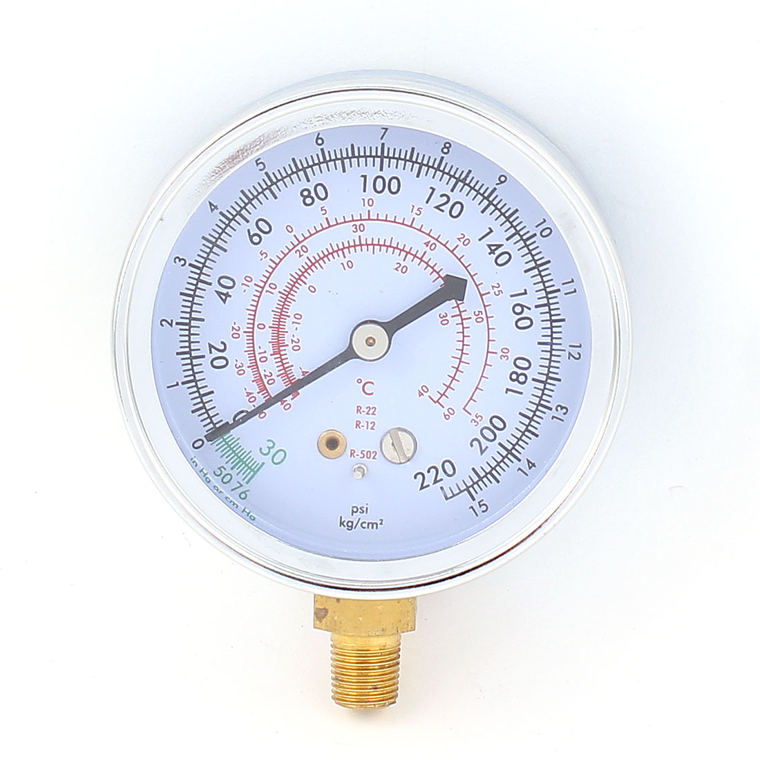 0-250 psi R502 R12 R22 Refrigerant High Side Pressure Gauge Blue