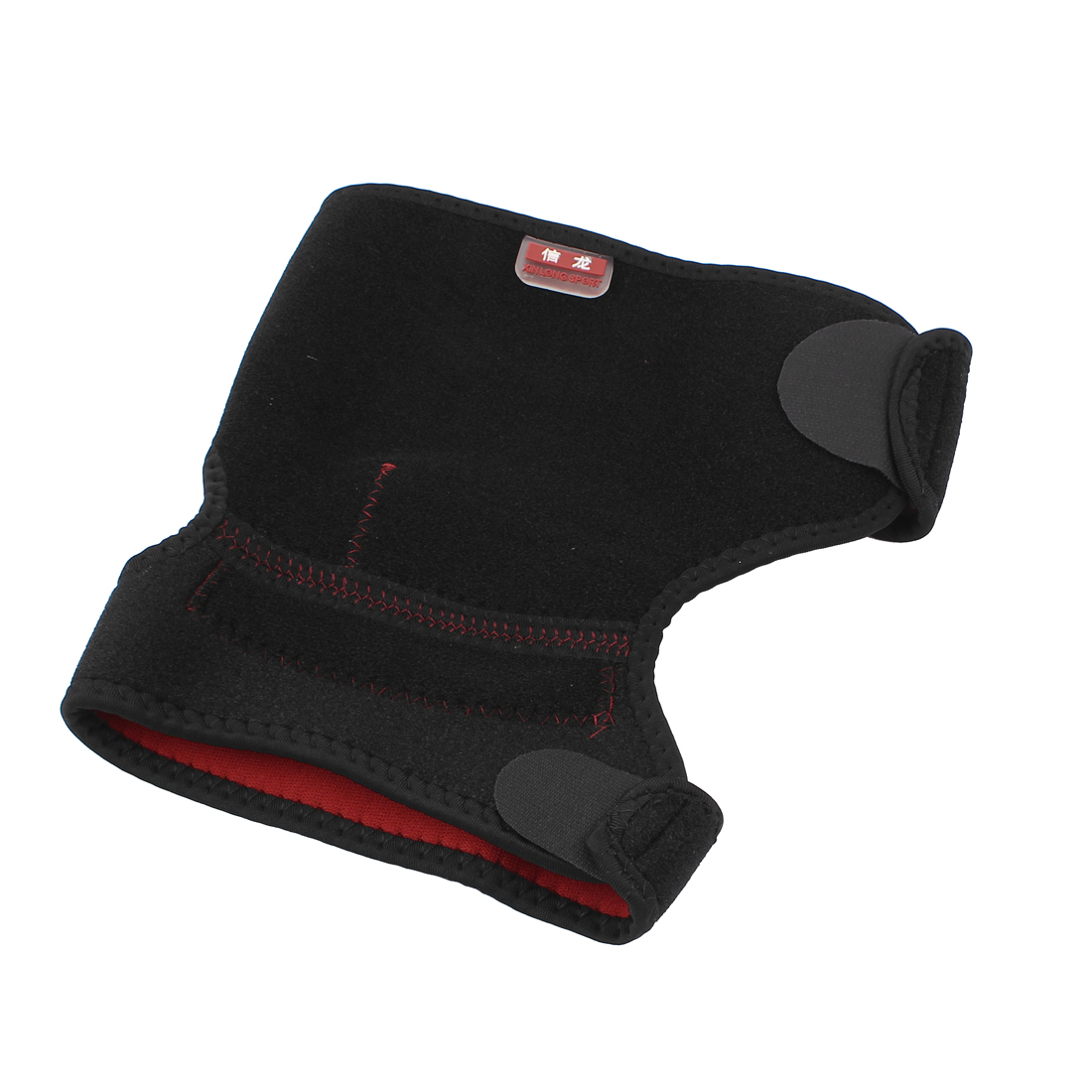 Fitness Exercise Adjustable Knee Support Brace Guard Protector Black