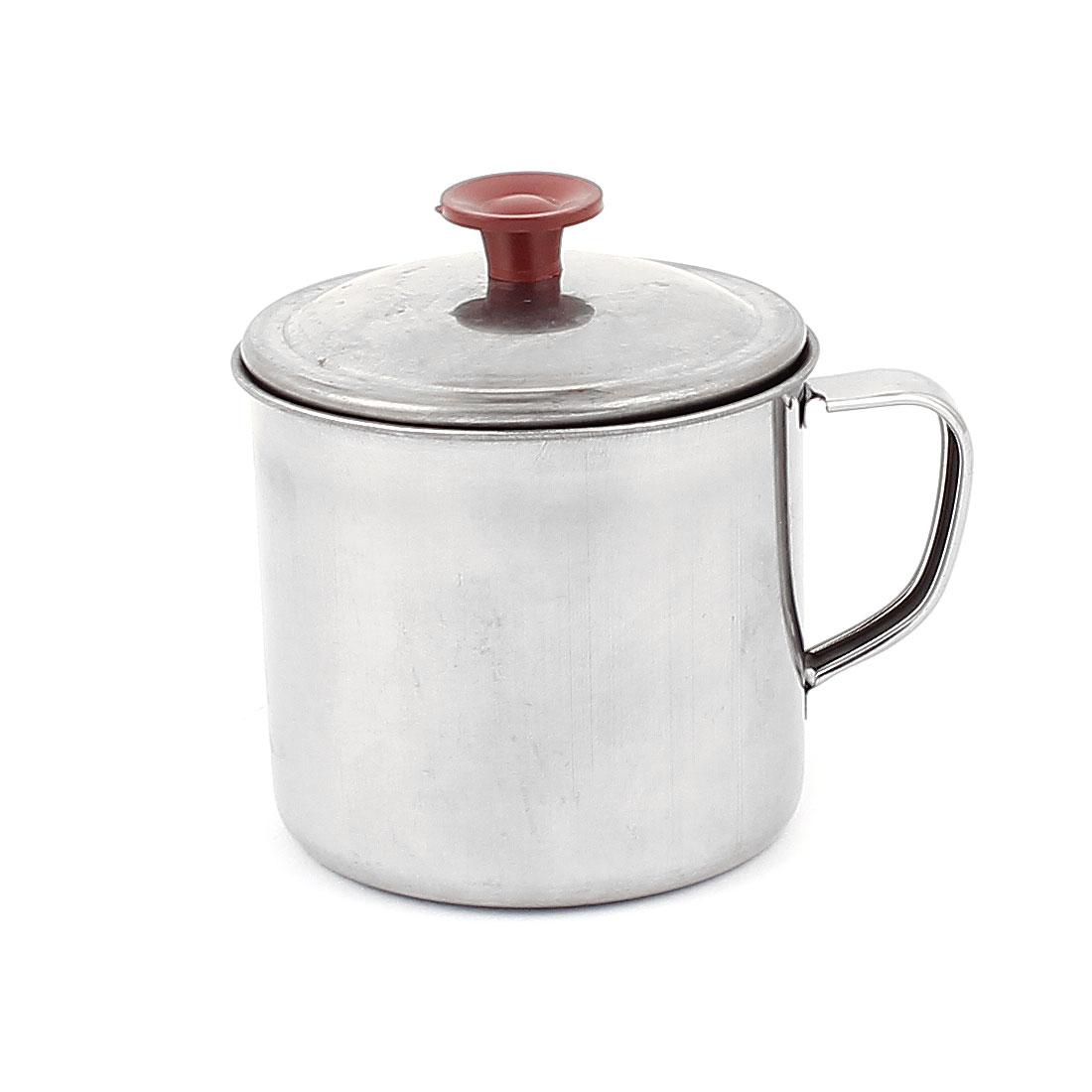 Stainless Steel Handheld Outdoor Camping Drinking Coffee Tea Mug Cup w Lid