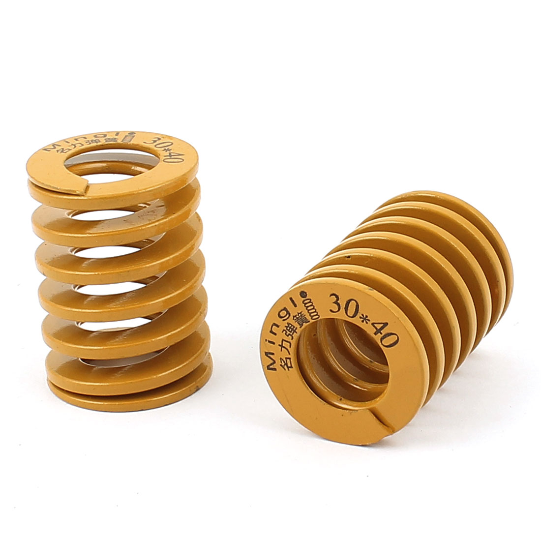 40mm x 30mm Stamping Compression Mold Mould Die Spring Coil Yellow 2Pcs