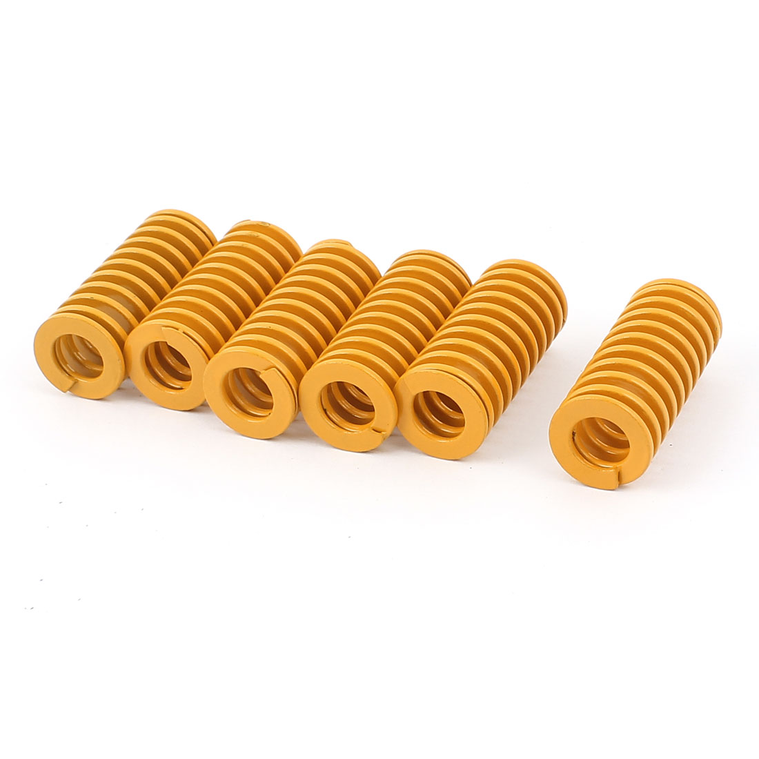 40mm x 18mm Stamping Compression Mold Mould Die Spring Coil Yellow 6Pcs