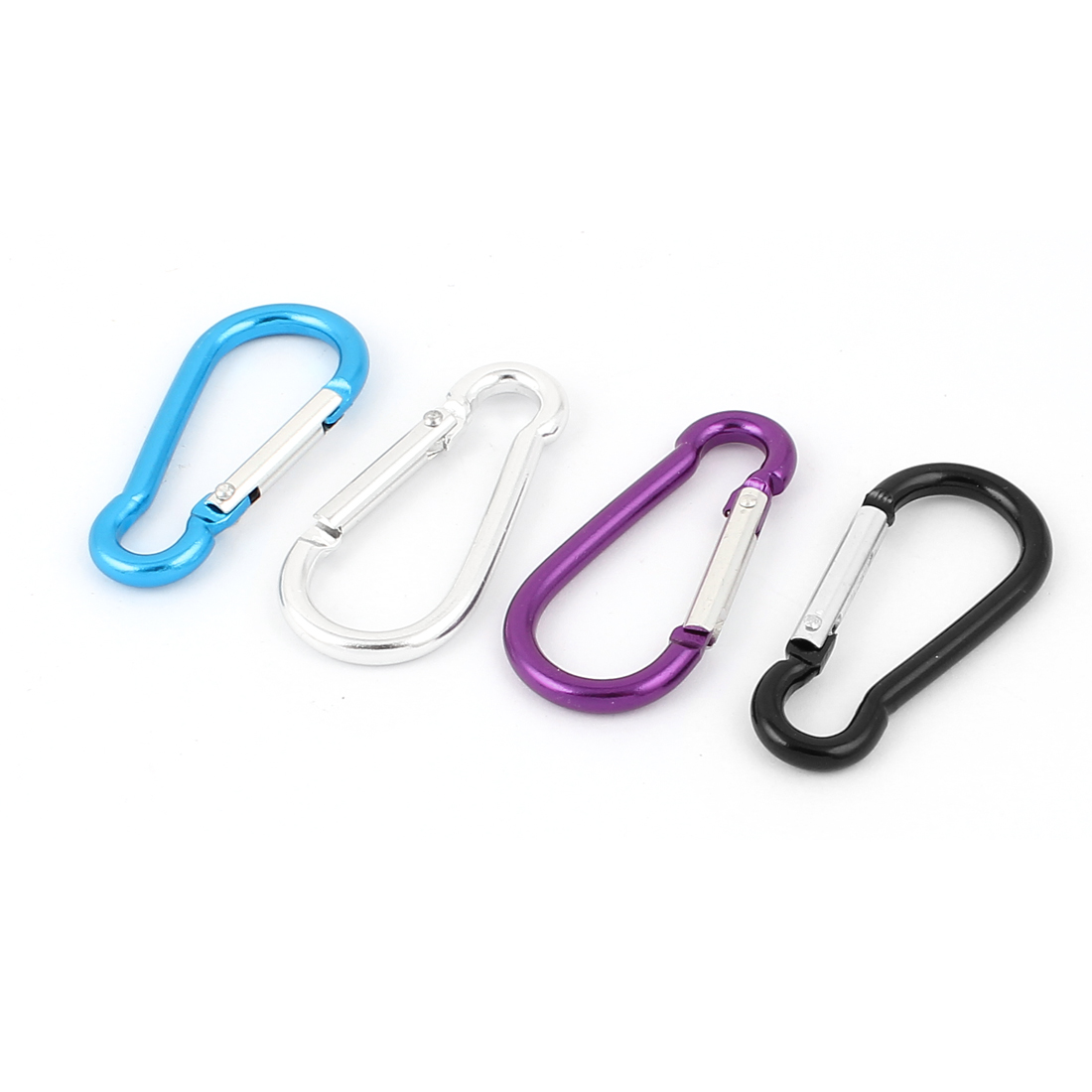 Metal D Shaped Outdoor Sport Carabiner Clip Hook Key Chain Keyring 4Pcs