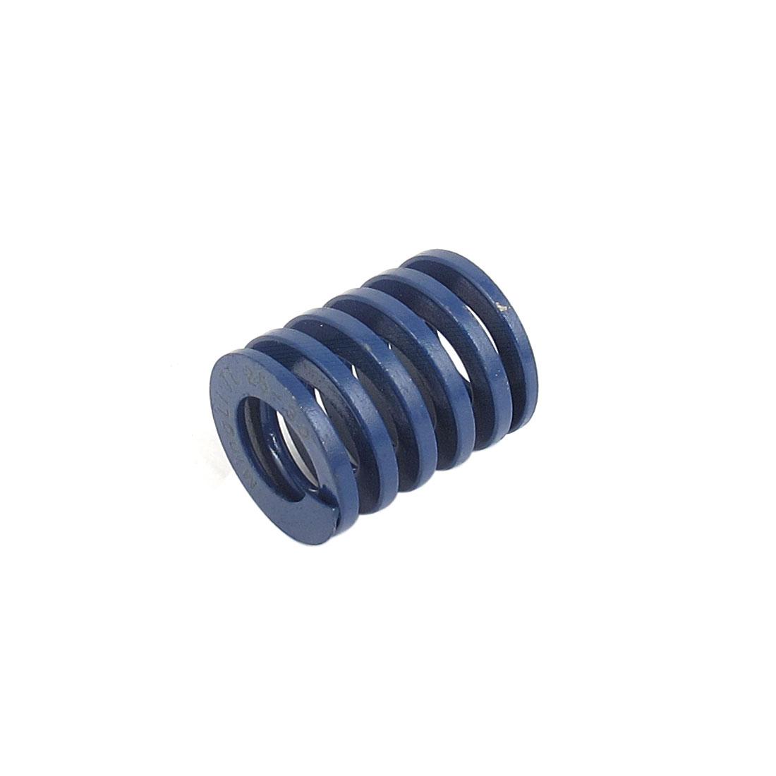 25mmx30mm Chromium Alloy Steel Light Load Die Spring Blue