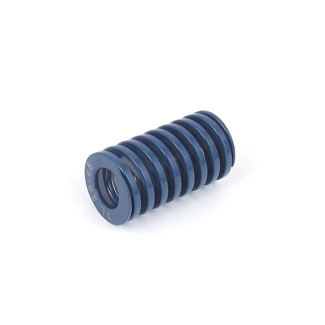 25mmx45mm Chromium Alloy Steel Light Load Die Spring Blue