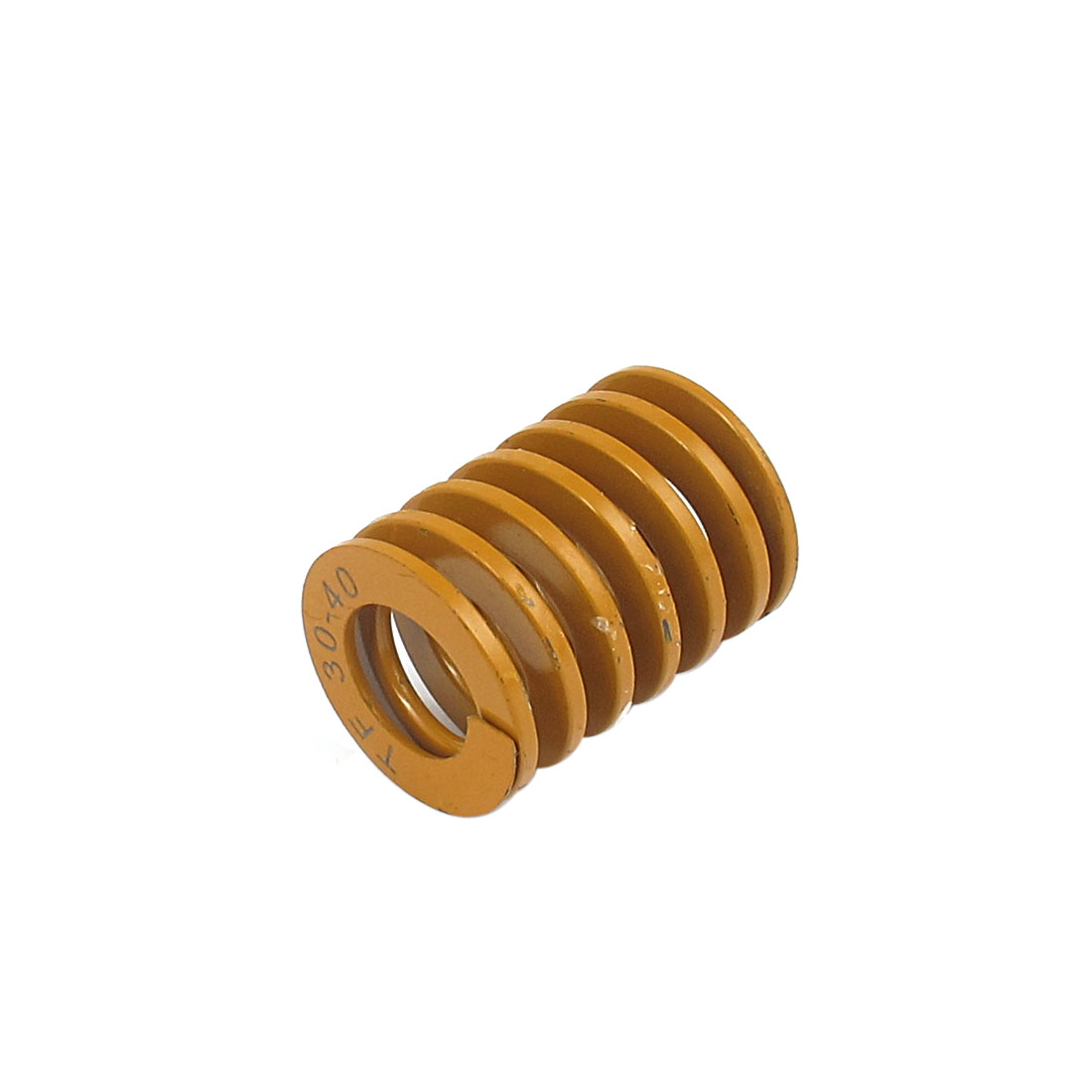 30mmx40mm Chromium Alloy Steel Lightest Load Die Spring Yellow