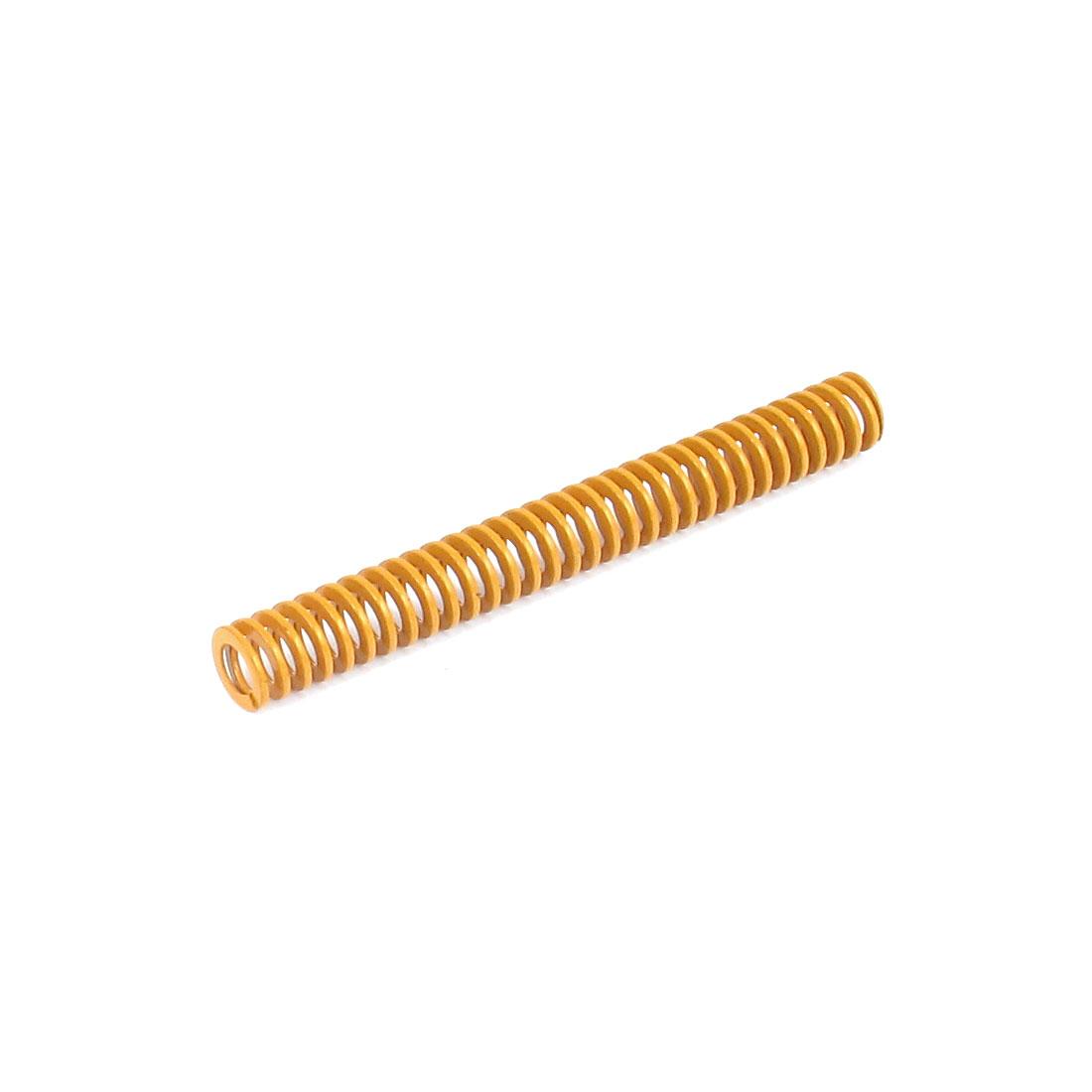 8mmx70mm Chromium Alloy Steel Lightest Load Die Spring Yellow