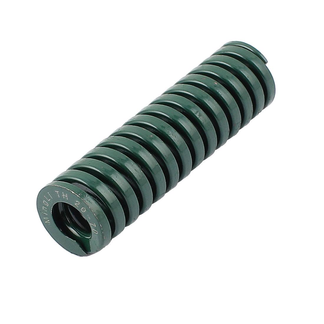 20mmx70mm Chromium Alloy Steel Heavy Load Die Spring Green