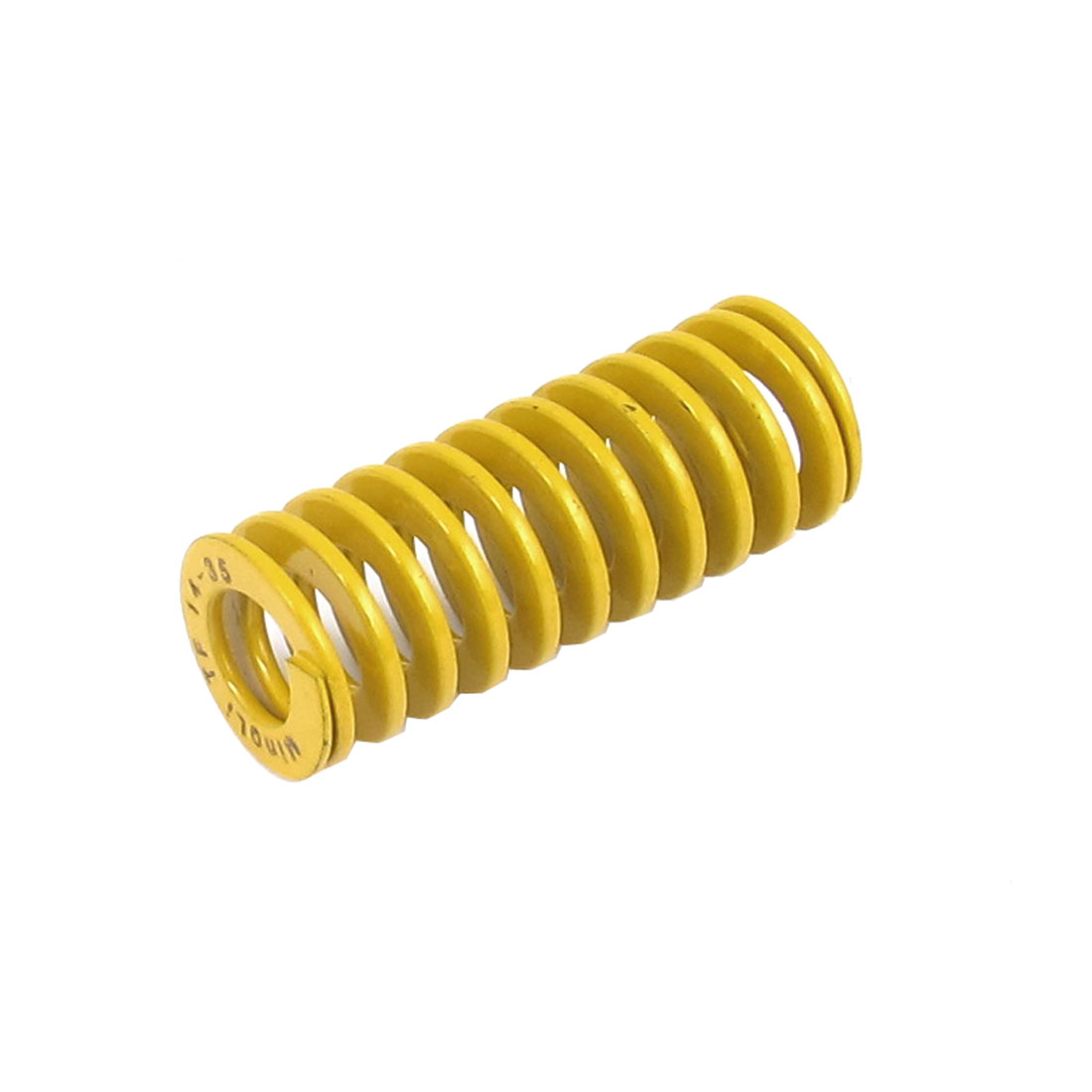 14mmx35mm Chromium Alloy Steel Lightest Load Die Spring Yellow