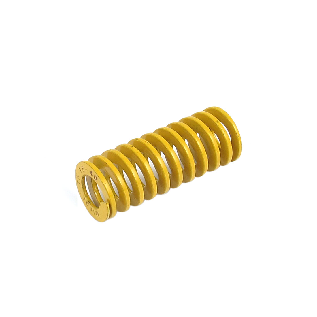 16mmx40mm Chromium Alloy Steel Lightest Load Die Spring Yellow