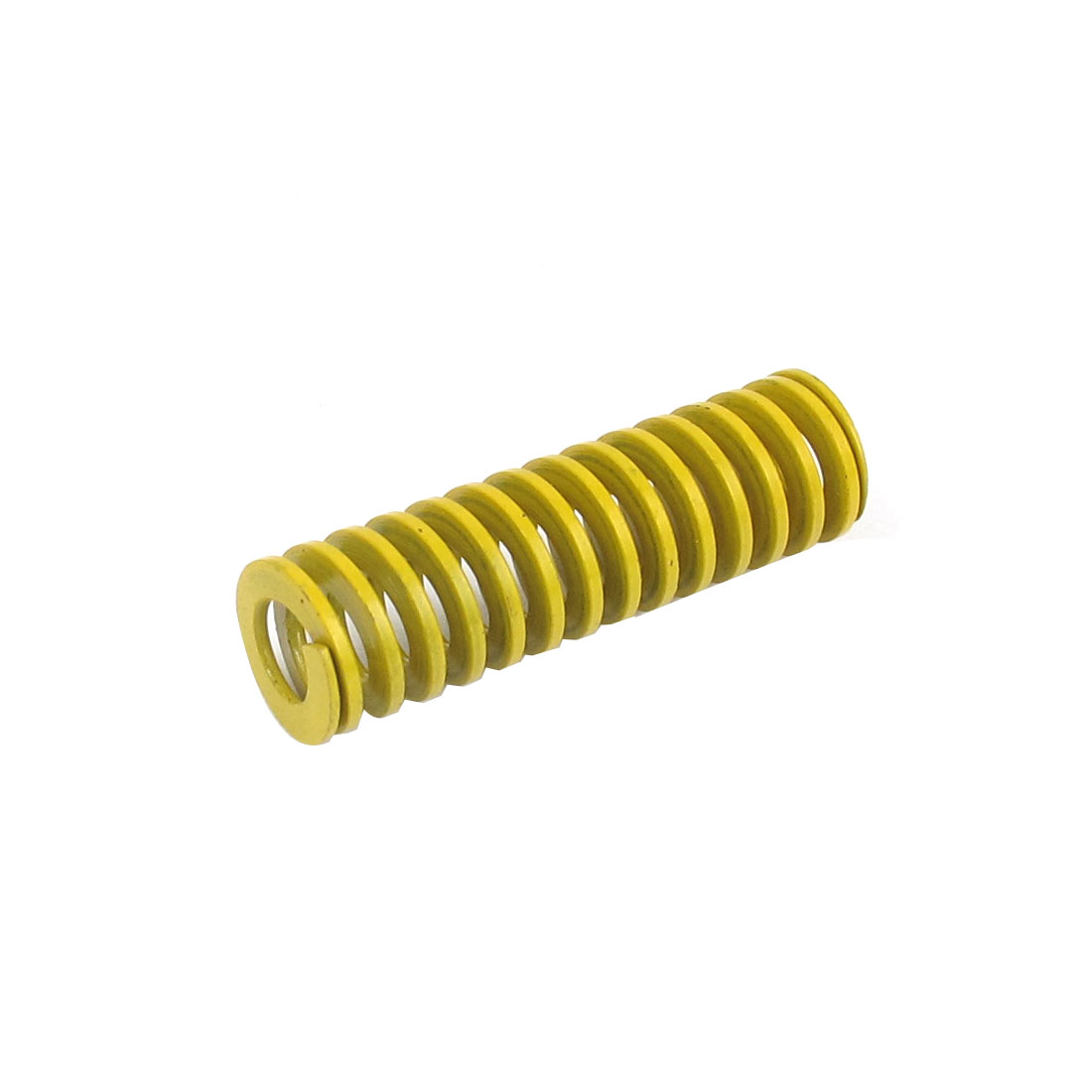 12mm OD 40mm Long Lightest Load Spiral Stamping Compression Die Spring Yellow