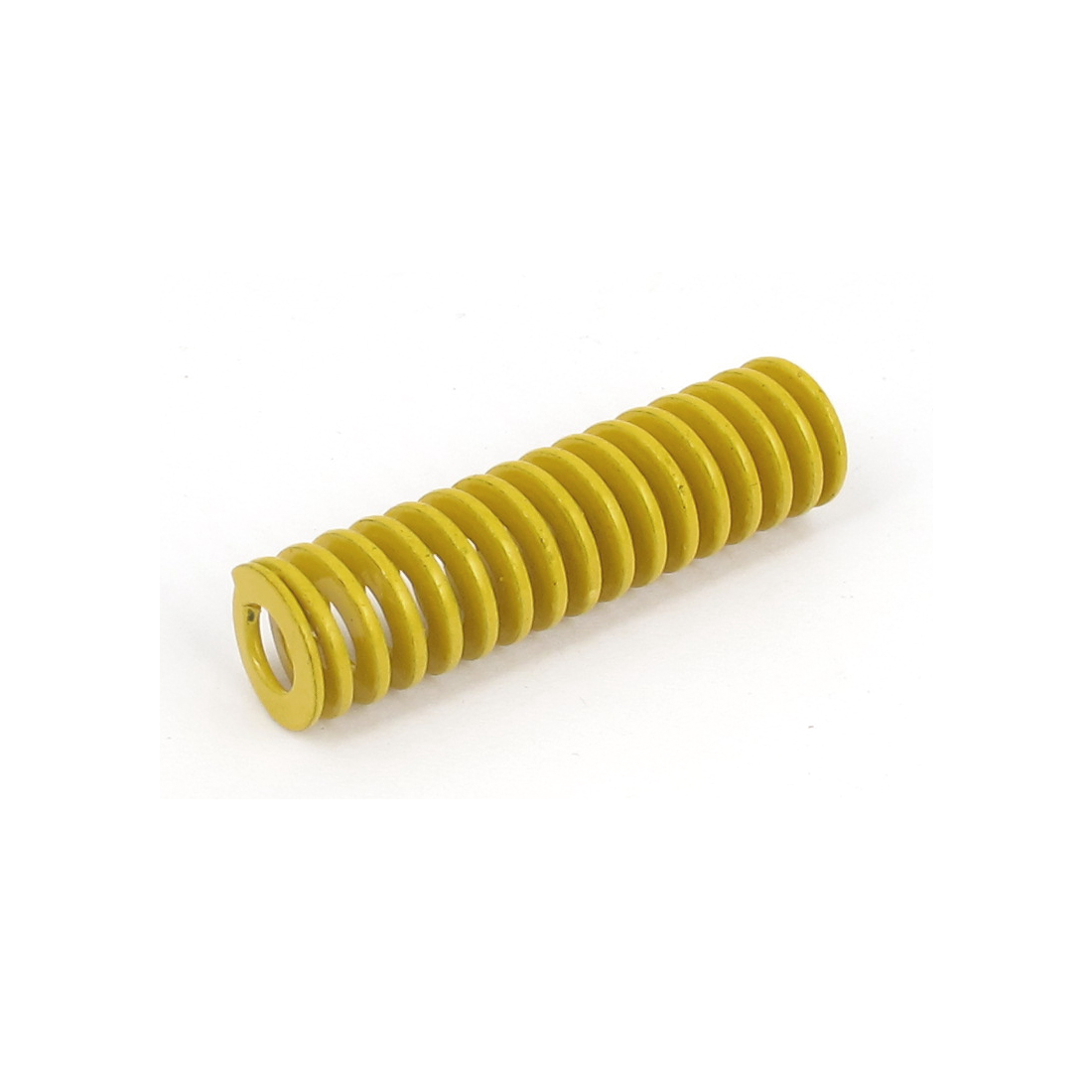 12mm OD 45mm Long Lightest Load Spiral Stamping Compression Die Spring Yellow