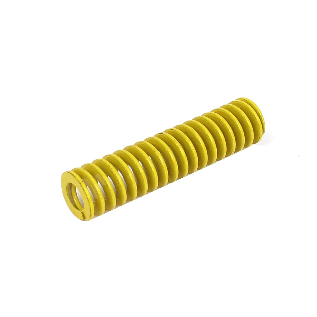 12mm OD 50mm Long Lightest Load Spiral Stamping Compression Die Spring Yellow