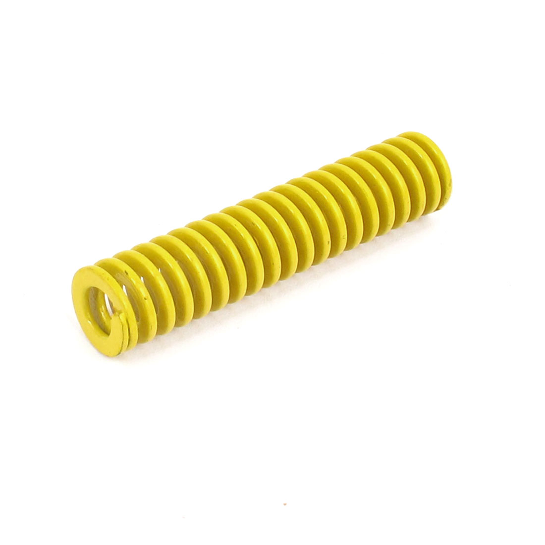 12mm OD 55mm Long Lightest Load Spiral Stamping Compression Die Spring Yellow