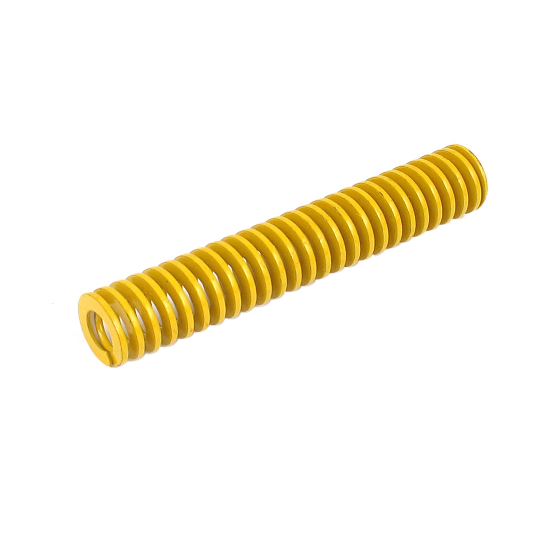 12mm OD 70mm Long Lightest Load Spiral Stamping Compression Die Spring Yellow