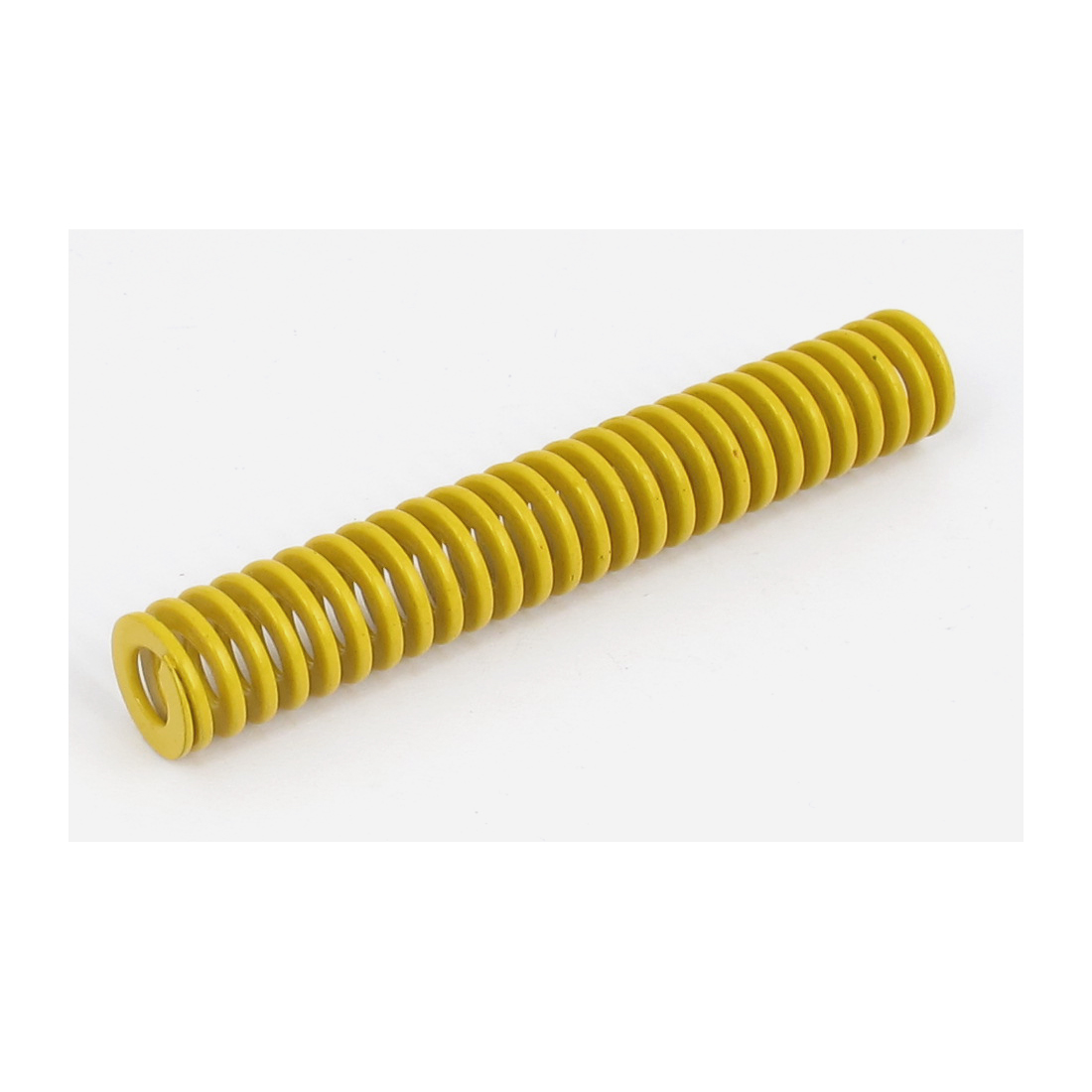 12mm OD 75mm Long Lightest Load Spiral Stamping Compression Die Spring Yellow