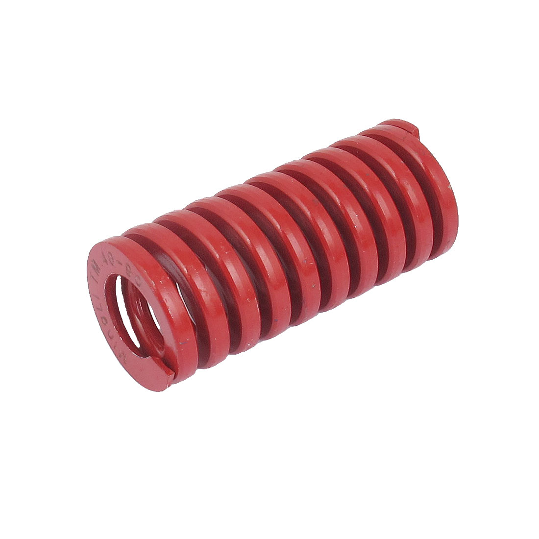 40mm OD 90mm Long Medium Load Spiral Stamping Compression Die Spring Red