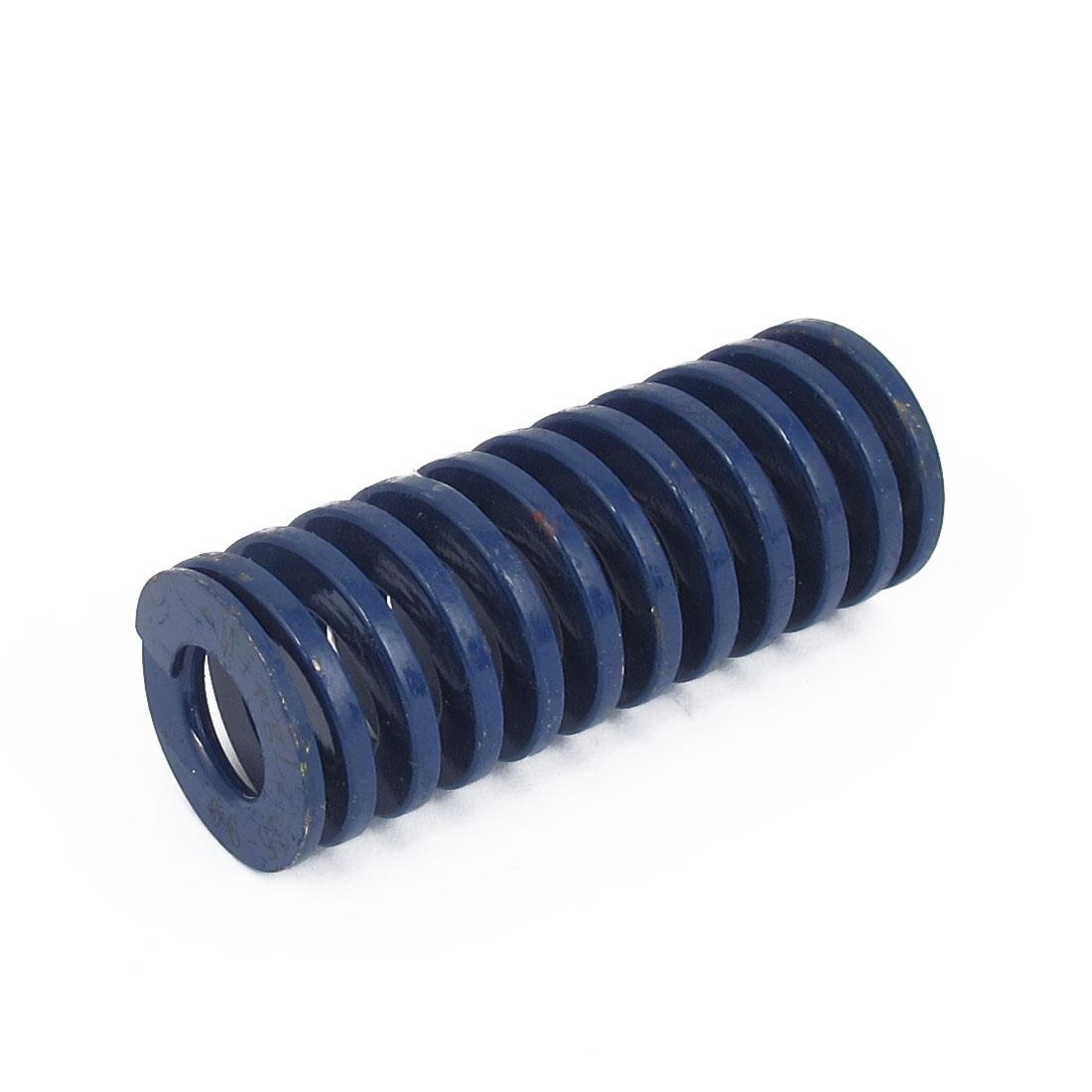 35mm OD 90mm Long Light Load Spiral Stamping Compression Die Spring Blue