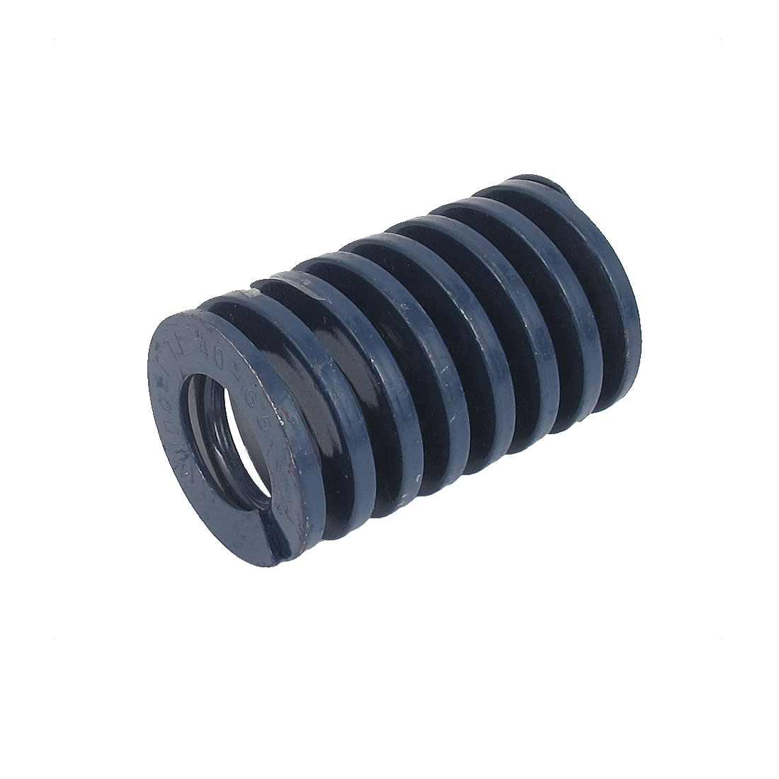 40mm OD 65mm Long Light Load Spiral Stamping Compression Die Spring Blue