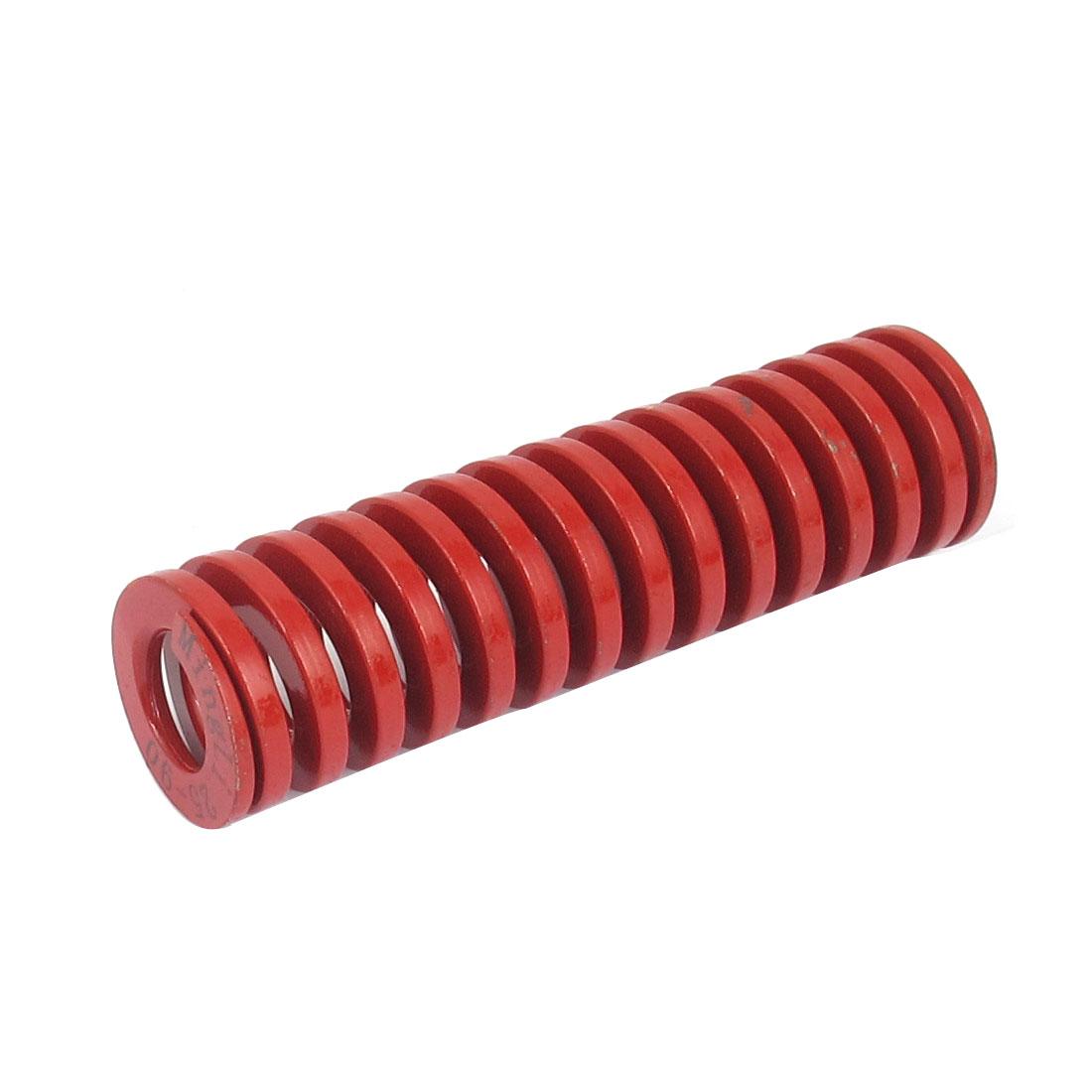 25mm OD 90mm Long Medium Load Spiral Stamping Compression Die Spring Red