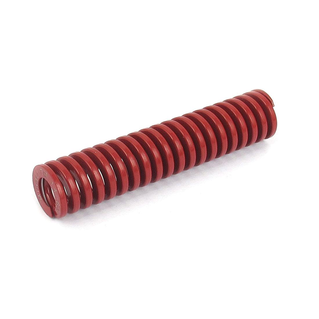 14mm OD 65mm Long Medium Load Spiral Stamping Compression Die Spring Red
