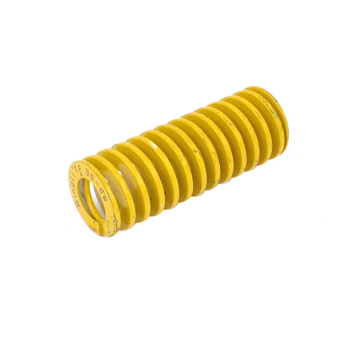 30mm OD 80mm Long Lightest Load Spiral Stamping Compression Die Spring Yellow