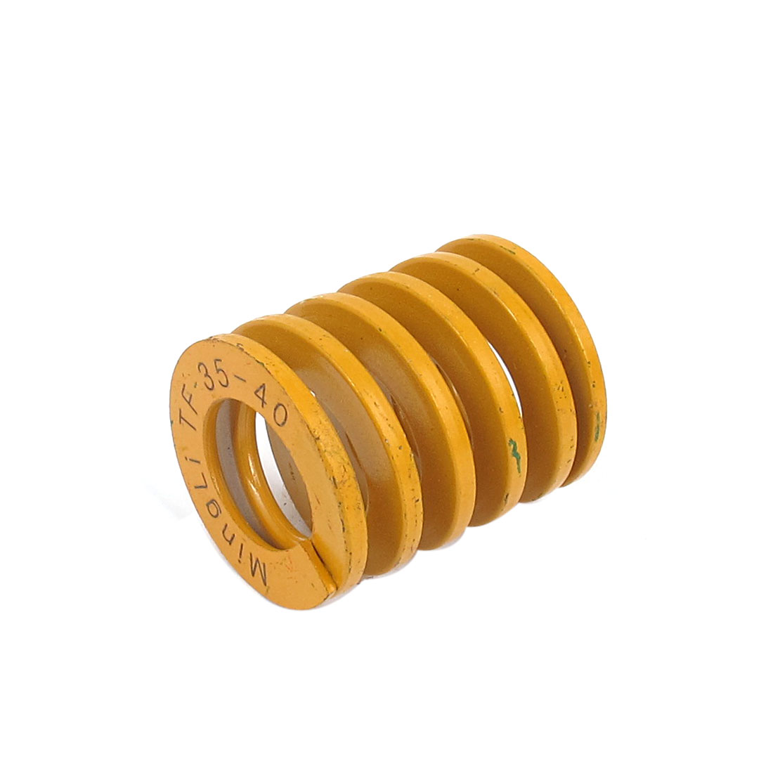 35mm OD 40mm Long Lightest Load Spiral Stamping Compression Die Spring Yellow