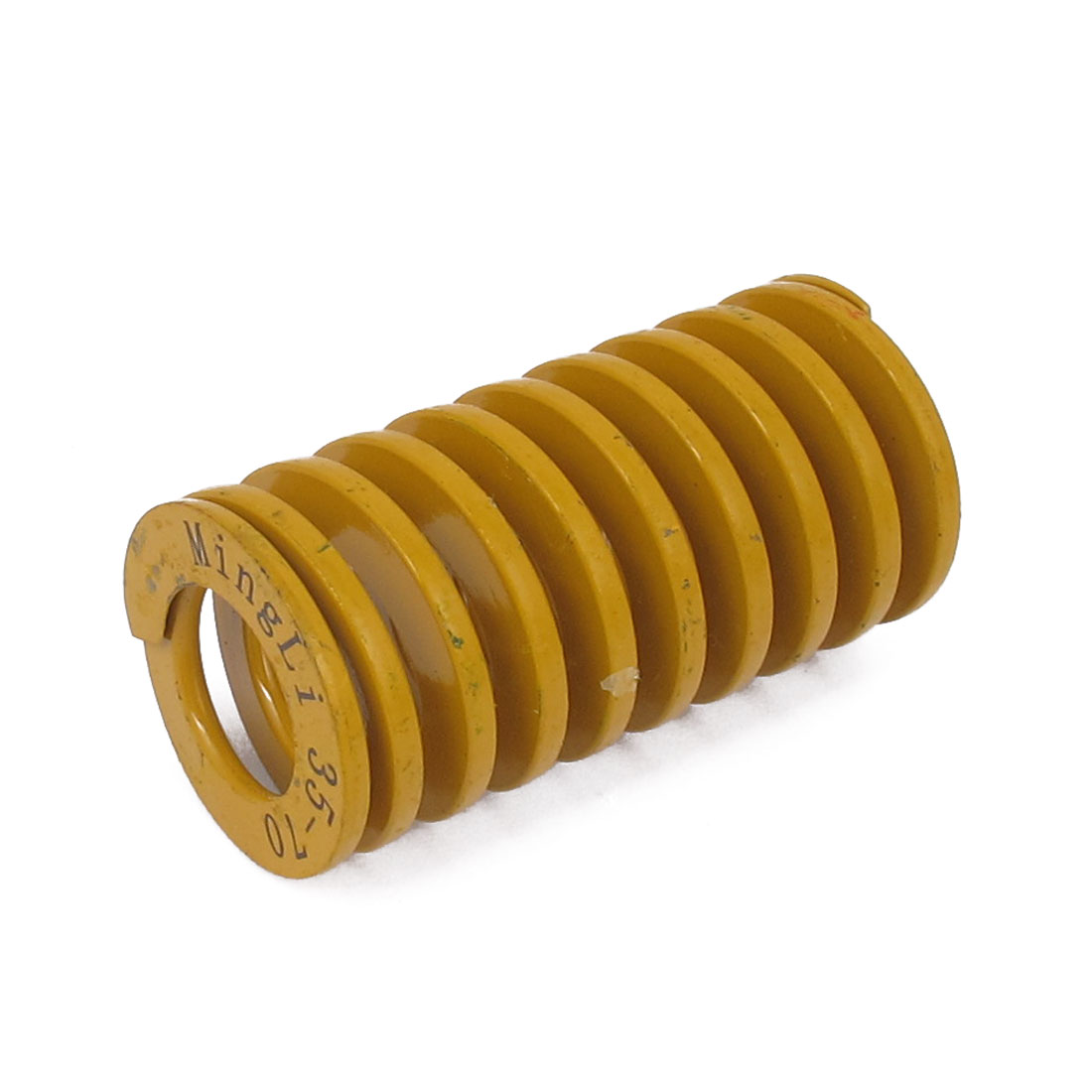 35mm OD 70mm Long Lightest Load Spiral Stamping Compression Die Spring Yellow