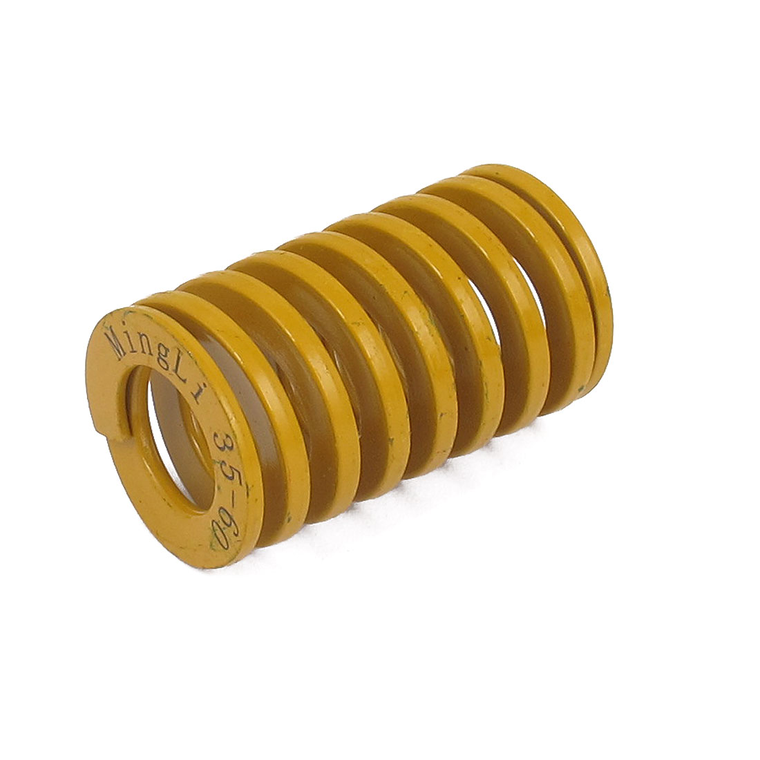 35mm OD 60mm Long Lightest Load Spiral Stamping Compression Die Spring Yellow