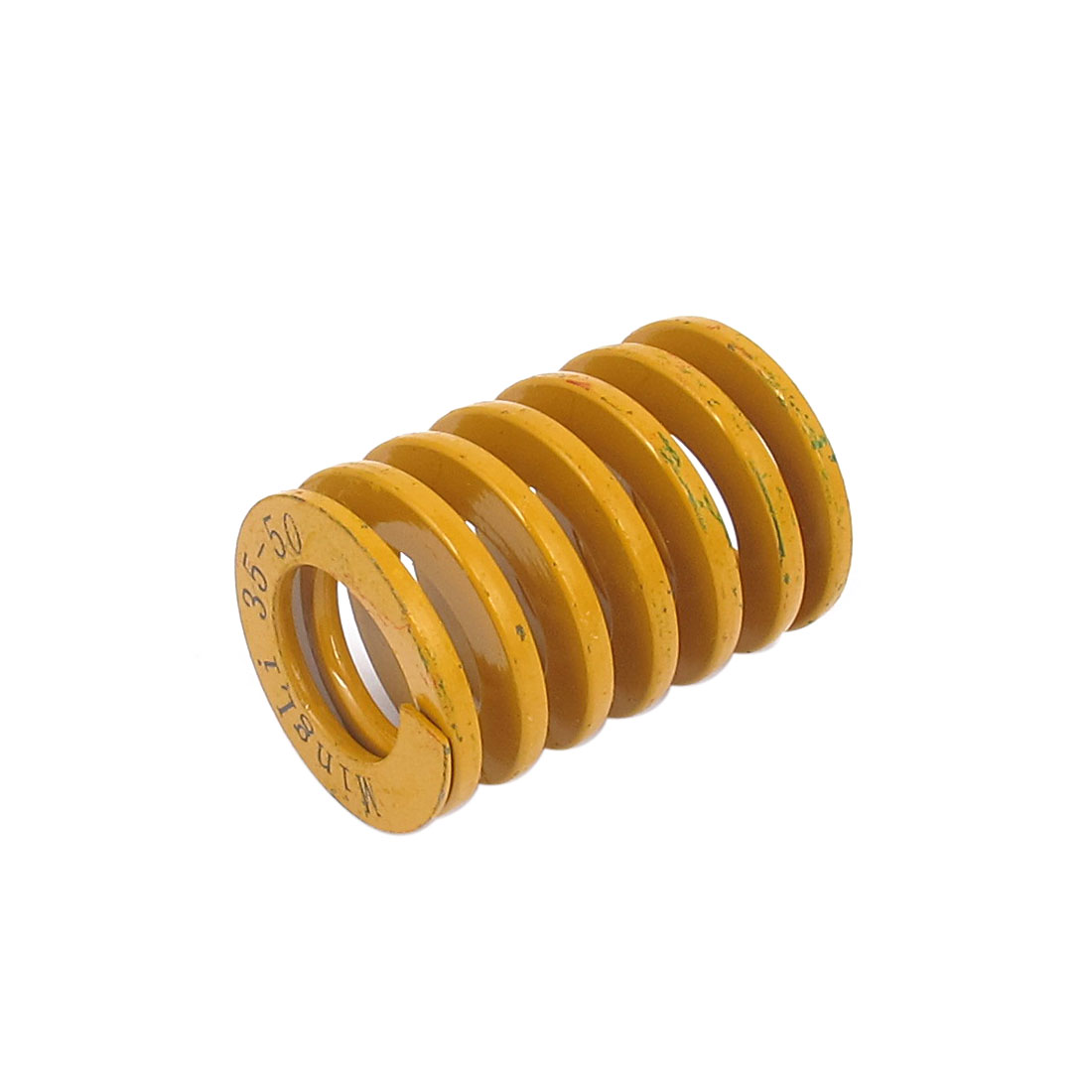35mm OD 50mm Long Lightest Load Spiral Stamping Compression Die Spring Yellow