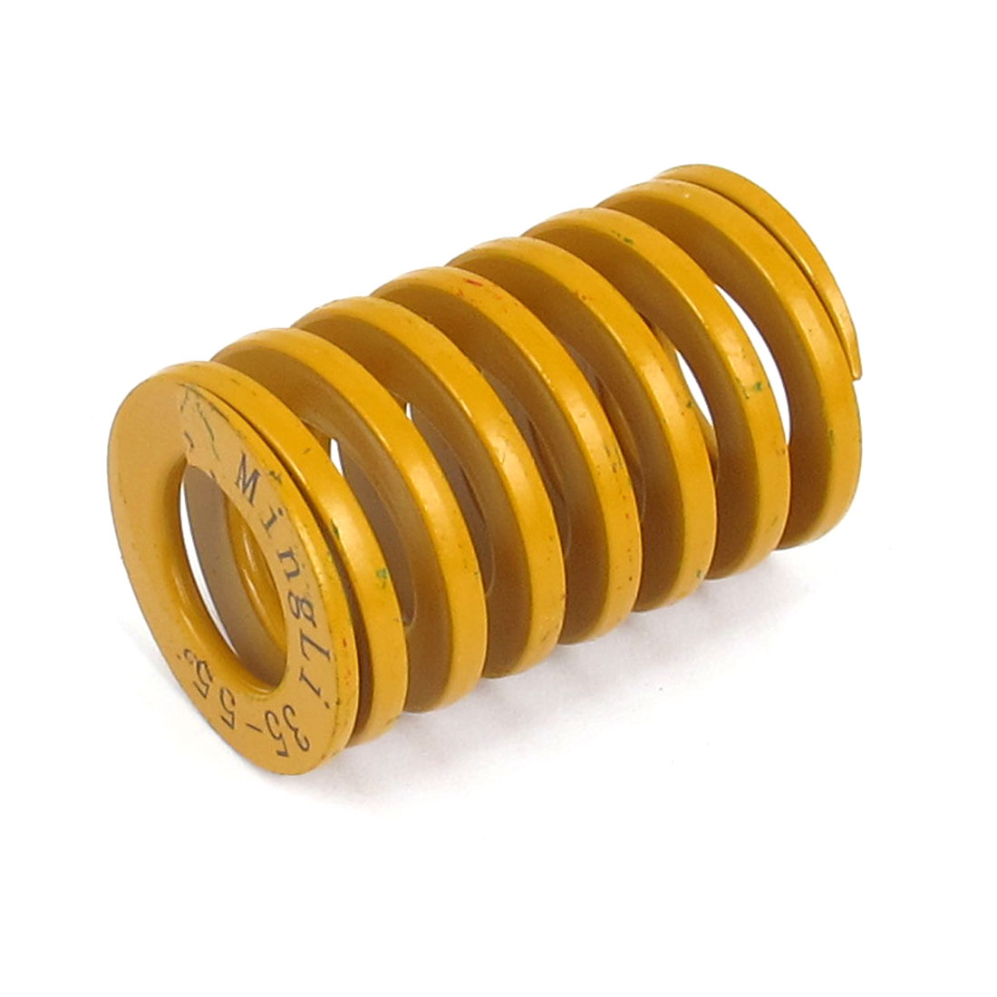 35mm OD 55mm Long Lightest Load Spiral Stamping Compression Die Spring Yellow