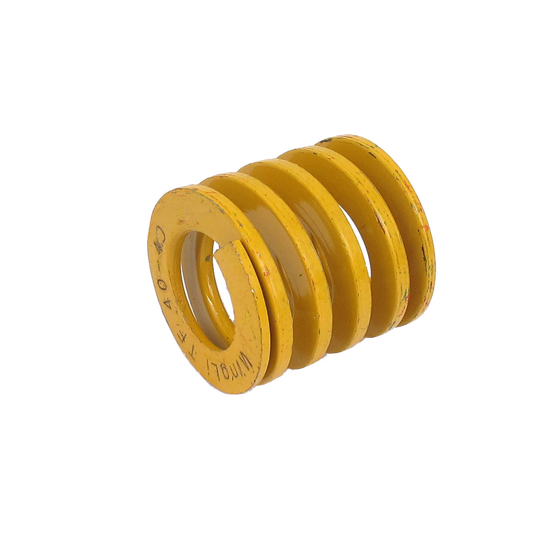 40mm OD 40mm Long Lightest Load Spiral Stamping Compression Die Spring Yellow