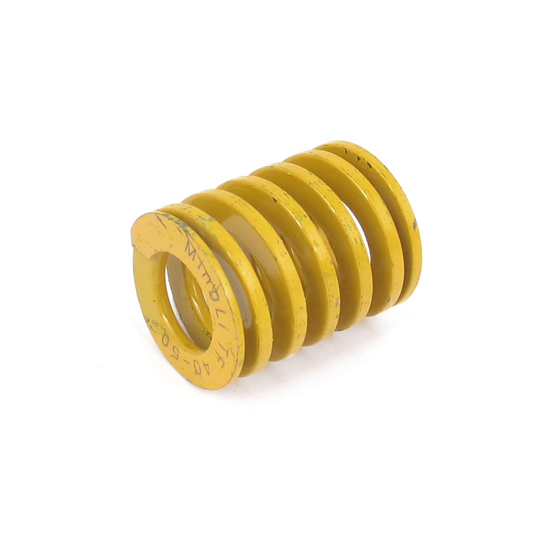 40mm OD 50mm Long Lightest Load Spiral Stamping Compression Die Spring Yellow