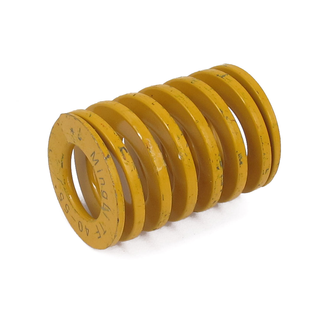 40mm OD 55mm Long Lightest Load Spiral Stamping Compression Die Spring Yellow