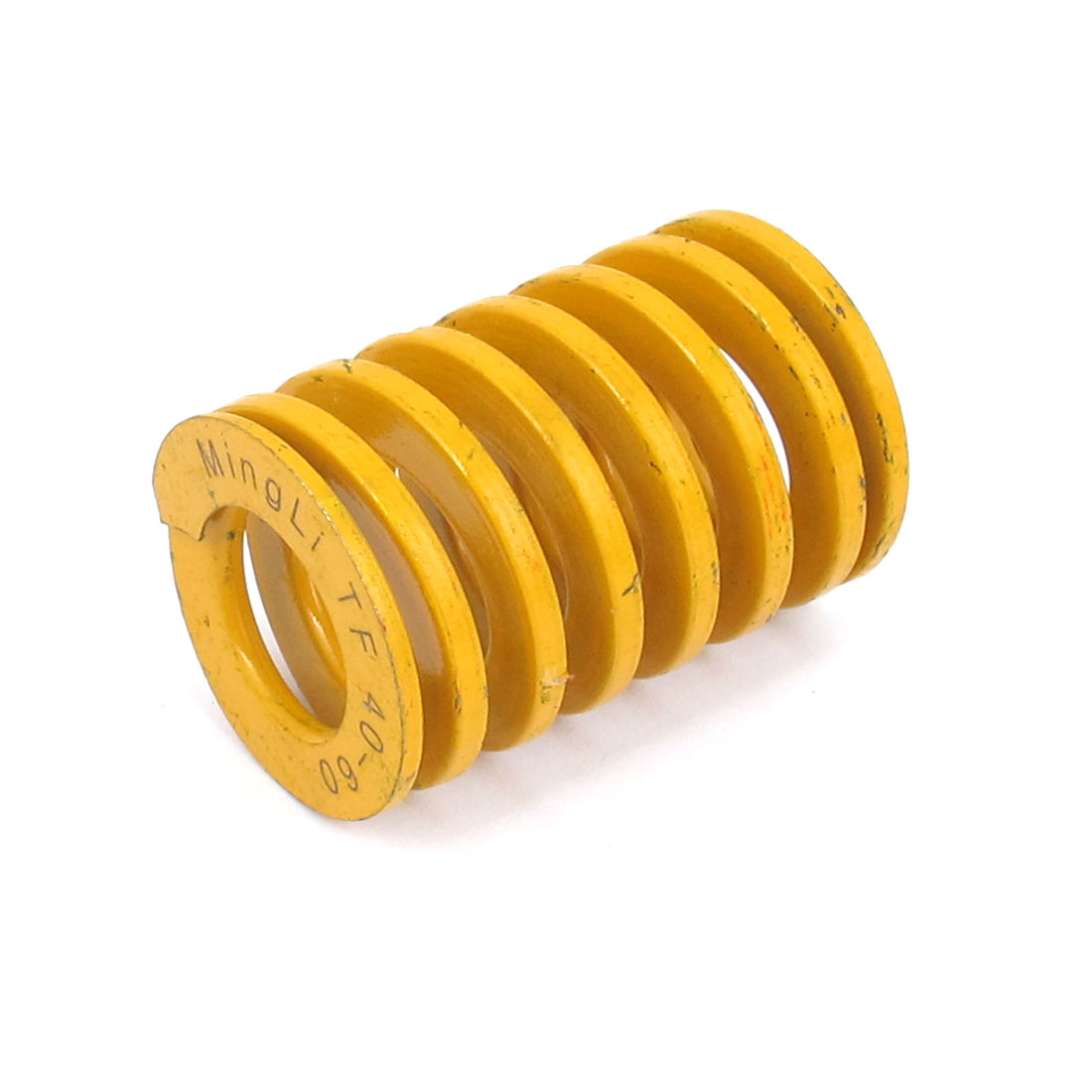 40mm OD 60mm Long Lightest Load Spiral Stamping Compression Die Spring Yellow